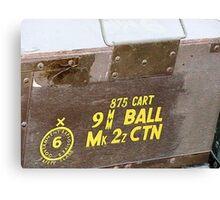 9 mm Ammo Box Canvas Print