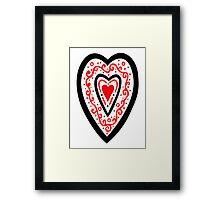 Ben's Heart Framed Print