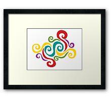 Swirly Dance Framed Print