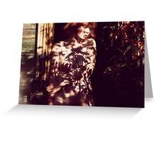 Surrounded - beautiful nude woman in nature, erotic art, fine fun retro awesome t-shirts Greeting Card