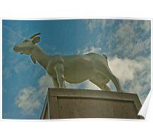 Goat Sculpture - Spitafields, London, UK Poster