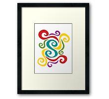 Swirl Dance Framed Print