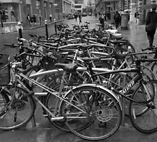 Bicycle Park, Liverpool Street, London, UK by TeresaMiddleton
