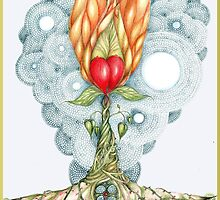 The Sacred Heart Flower by Helena Wilsen - Saunders