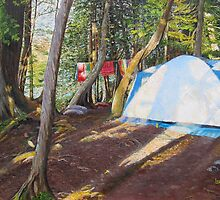 Camping at Lake Umbagog, Maine by P. Leslie Aldridge