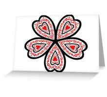 Flowered Heart Greeting Card