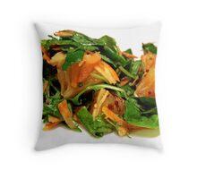 Green salad with orange Throw Pillow