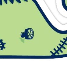 Vineyard Vines Whale Sticker || Halloween Frankenstein   Sticker