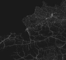 Roads of Austria. (White on black) Sticker