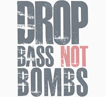 Drop Bass Not Bombs (cream pink)  Women's Relaxed Fit T-Shirt