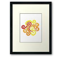 Firery Swirl Framed Print