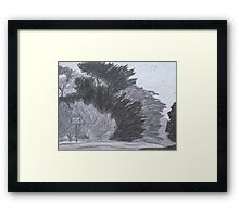 Trees on a Windy Day Framed Print