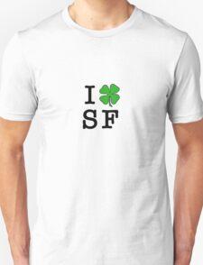 I (Club) SF (black letters) Unisex T-Shirt