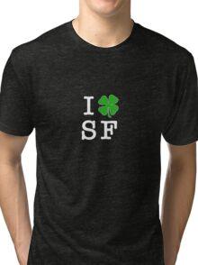 I (Club) SF (white letters) Tri-blend T-Shirt