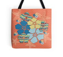 Bright Tropical Flowers Tote Bag
