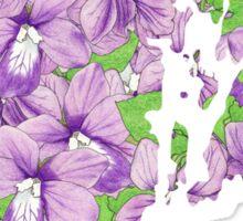 Rhode Island Flowers Sticker