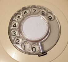 Retro Rotary Phone Sticker