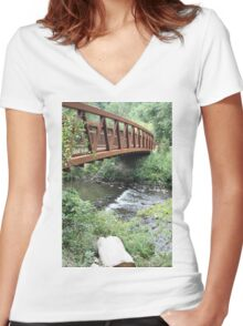 Water under the bridge Women's Fitted V-Neck T-Shirt