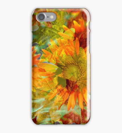 Abstract Fall Color Flowers iPhone Case/Skin