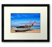 fishing boat on Usedom Framed Print