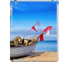 fishing boat on Usedom iPad Case/Skin