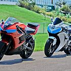 R6 and CBR at HPT's Turn 13 by Paul Danger Kile