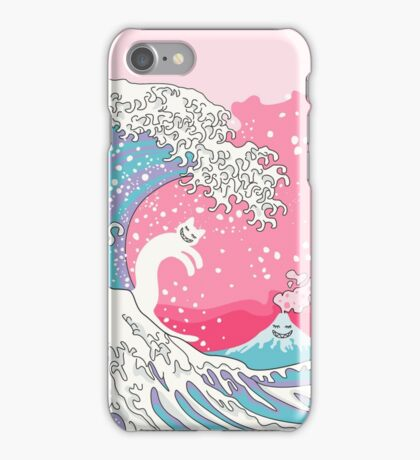 Psychodelic Bubblegum Kunagawa Surfer Cat iPhone Case/Skin