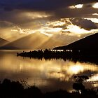 Lake Te Anau sunset. South Island, New Zealand. (5) by Ralph de Zilva