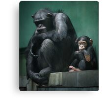 Son and dad II Canvas Print
