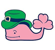 Vineyard Vines Whale Sticker || St. Patrick's Day Leprechaun  by laurrenpowell