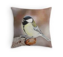 Small, cute and yellow Throw Pillow