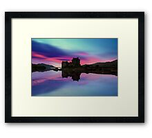 Twilight over Eilean Donan Castle Framed Print