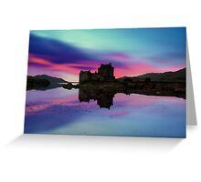 Twilight over Eilean Donan Castle Greeting Card