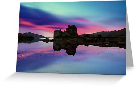 Twilight over Eilean Donan Castle by David Alexander Elder