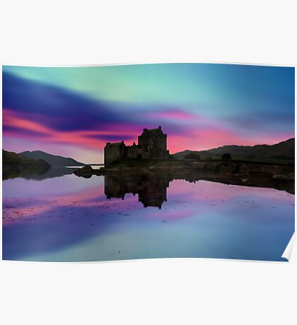 Twilight over Eilean Donan Castle Poster