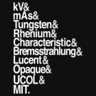UCOL B.Sc MIT Helvetica Tee by Chur St. Churdom