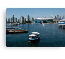 Vancouver Harbour, a View Canvas Print