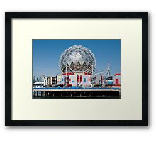 Science World in Vancouver Framed Print