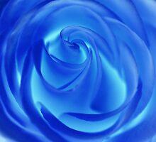 blue spring swirls by Iris MacKenzie
