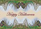 Halloween Fantasmagorical Cicada Card by MotherNature