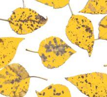 Golden Fall Leaves Sticker