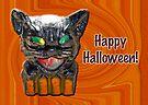 Halloween - Papier Mache Cat Lantern by MotherNature