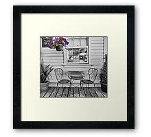 Sit awhile Framed Print