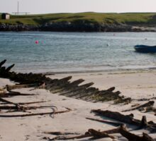 Boat Wreck, Scarinish Harbour - Tiree, Scotland Sticker
