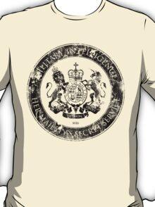 On her Majesty's secret service logo  - BLACK T-Shirt