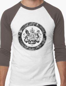 On her Majesty's secret service logo  - BLACK Men's Baseball ¾ T-Shirt