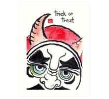 Halloween Daruma 1 (Holiday Daruma Series) Art Print