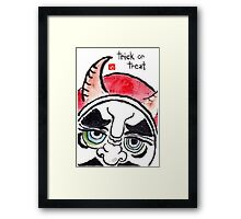 Halloween Daruma 1 (Holiday Daruma Series) Framed Print