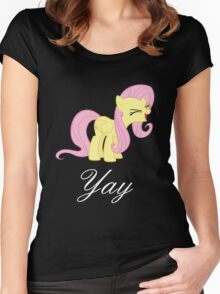 Fluttershy yay Women's Fitted Scoop T-Shirt