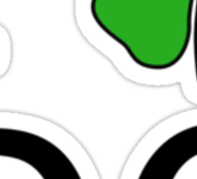 I (Club) DC (black letters) Sticker